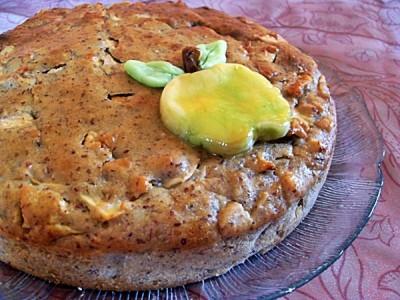 Gâteau vegan moelleux pommes et noisettes