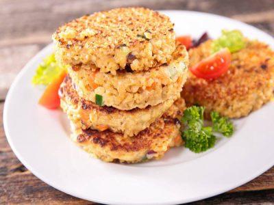 Galettes au quinoa et petits légumes