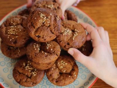 Muffins à l'amande et au gingembre confit