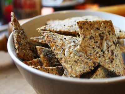 Crackers healthy aux graines et romarin