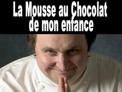 Mousse au chocolat de maman Conticini